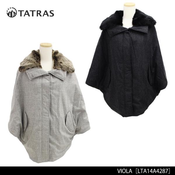 【送料無料】【TATRAS-タトラス-】VIOLA[LTA14A4287][レディース・ダウン・ポンチョ・フーディー]