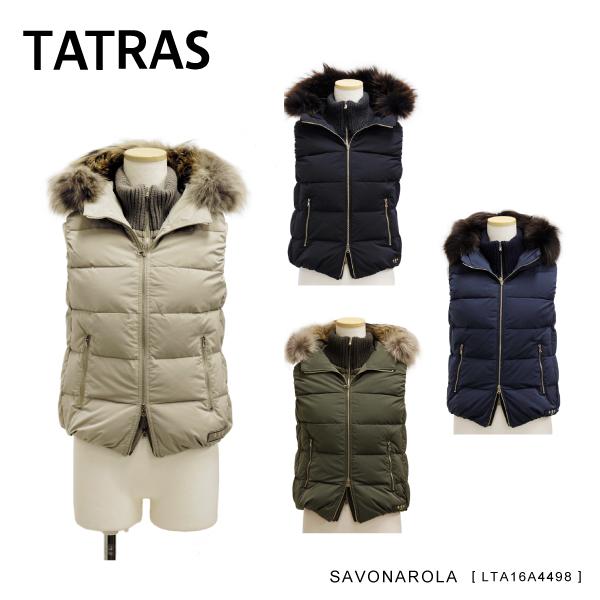 【送料無料】『TATRAS-タトラス-』SAVONAROLA-サヴォナロラ-[LTA16A4498][ダウンベスト ラクーンファー付 フード ダブルフロント]
