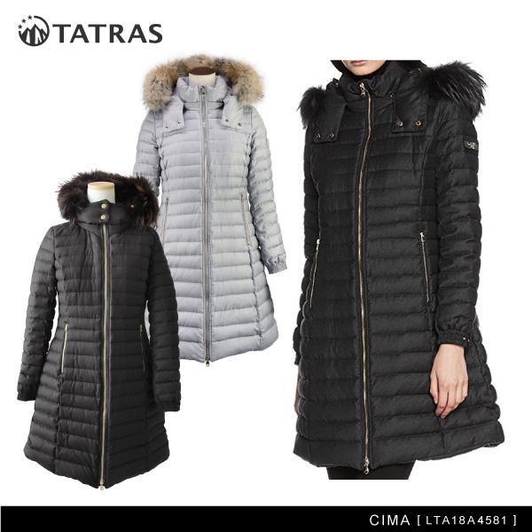 【送料無料】【2017-18 AW】『TATRAS-タトラス-』CIMA[LTA18A4581][チマ ダブルジップ ダウンコート ダウンジャケット ファー フード付き]
