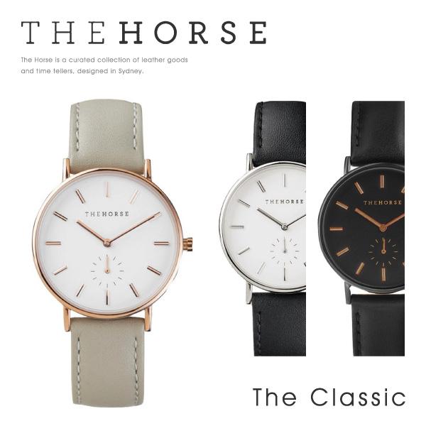 【送料無料】『The Horse-ザホース-』The Classic 36mm [クラシック 本革 レザーウォッチ メンズ レディース ユニセックス クオーツ ウォッチ フォーマル カジュアル ペアウォッチ ]