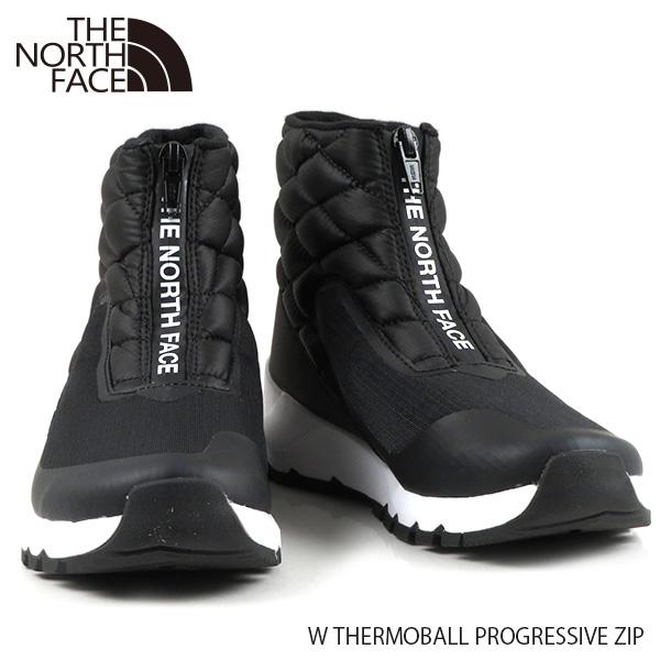 {The North Face ノースフェイス ランキングTOP5 W THERMOBALL PROGRESSIVE ZIP サーモボール プログレッシブ KY4 レディース 撥水 ブーツ NF0A4O9D NF0A4O9D} BLACK 耐水 注文後の変更キャンセル返品 ローカットブーツ The
