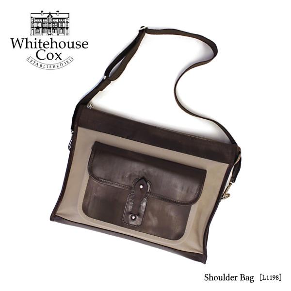 【送料無料】【Whitehouse Cox-ホワイトハウスコックス-】Shoulder Bag-ショルダーバッグ-[368L1198][メンズ・レザーバッグ・本革]