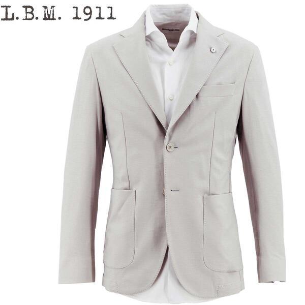 2020年春夏新作 国内正規品 L.B.M.1911 エルビーエム1911 メンズ 撥水 ストレッチ 2B シングルジャケット TRAVEL SPORTS UNIFORM FLY JACKET 0101-28445746 0001(アイスグレー)