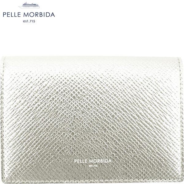 2020年春夏新作 国内正規品 PELLE MORBIDA ペッレモルビダ バルカ 型押しレザー 三つ折り財布 BARCA PMO-BA319 GLD(シャンパンゴールド)