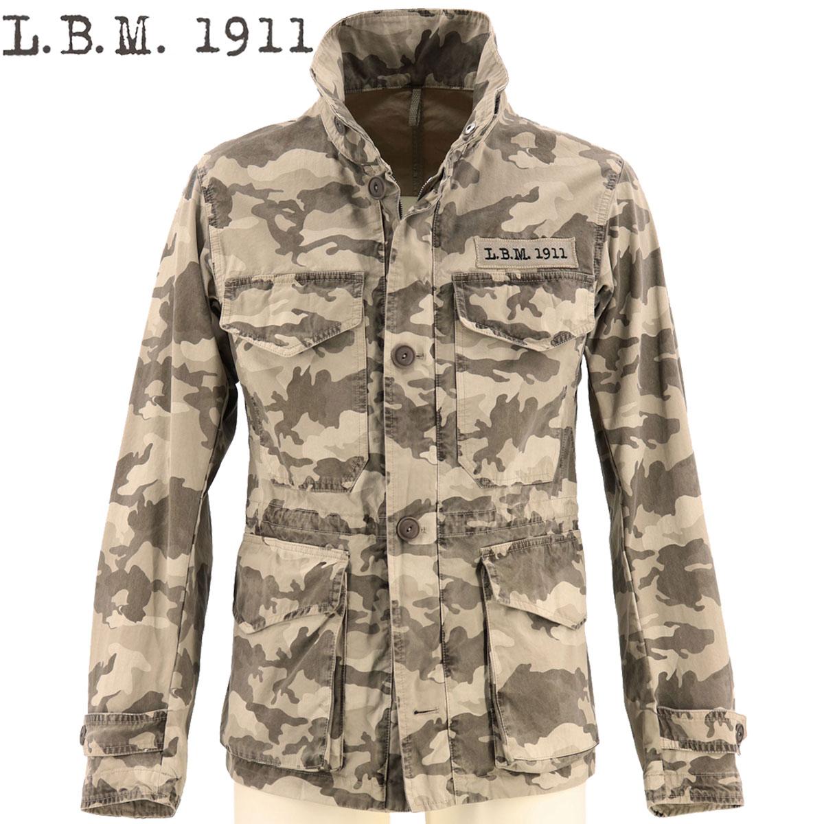2020年春夏新作 国内正規品 L.B.M.1911 エルビーエム1911 メンズ ウォッシュドコットン カモフラージュ柄 M-65型 フィールドジャケット LBM M65 0101-93085740 1(カモフラージュ)