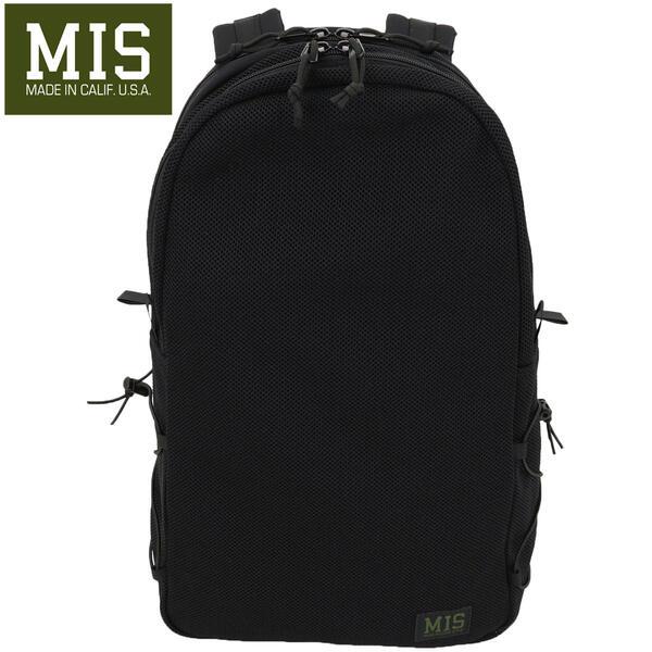 国内正規品 即日発送 MIS エムアイエス MESH BACKPACK MIS-1016 BLACK(ブラック)