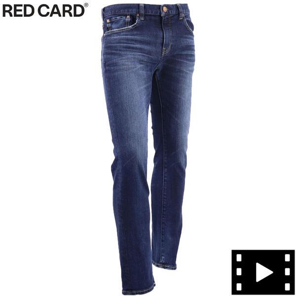RED kita-Dark IND(ブルー) コットンストレッチ ヴィンテージ加工 Day1 スキニーデニム DARK Day1 Skinny レッドカード 26808-kid Used CARD メンズ