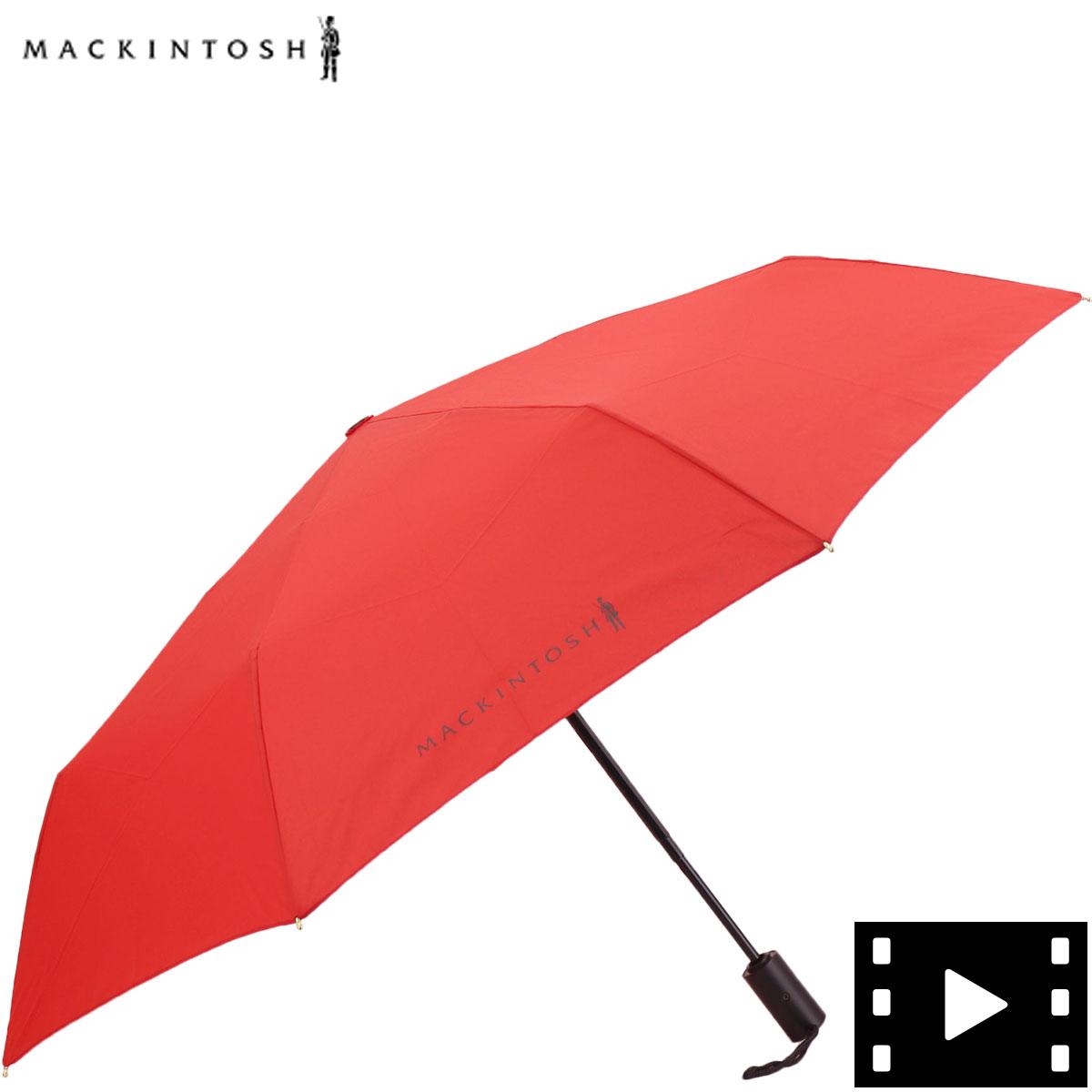 マッキントッシュMACKINTOSHワンタッチ開閉式晴雨兼用折り畳み傘ACC-027MCTA211CL0027UBUARED(レッド)