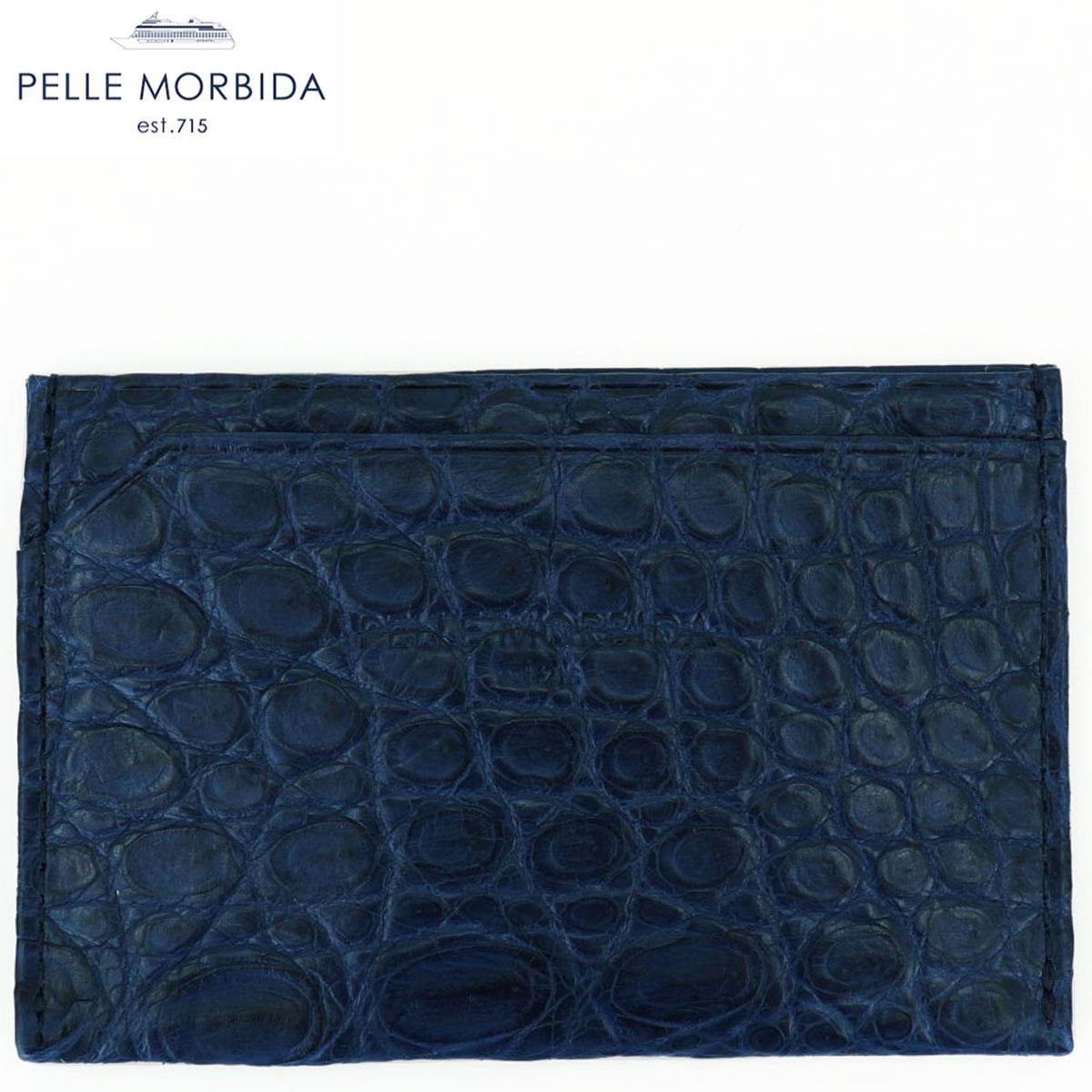 国内正規品 即日発送 ペッレモルビダ 人気ブランド PELLE MORBIDA パスケース ブルー BLU PMO-CRS009 登場大人気アイテム クロコダイルレザー