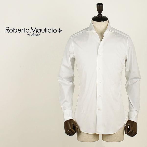 国内正規品 即日発送 ROBERTO MAULICIO DA SWEEP!! ロベルトマウリシオ バイ スウィープ!! ストレッチ ブロードシャツ Broad Stretch (ホワイト)