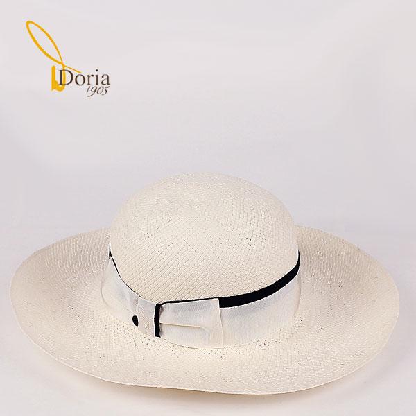 【サマーセール】Doria1905 ドリア1905 レディース ペーパー キャペリンハット D0349P-DO (ネイビー×ホワイト)【返品交換不可】special priceBL l-zasale