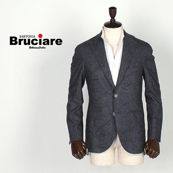 BRUCIARE ブルチアーレ メンズ 2B 花柄 ウール シングルジャケット 3730211 (チャコールグレー)