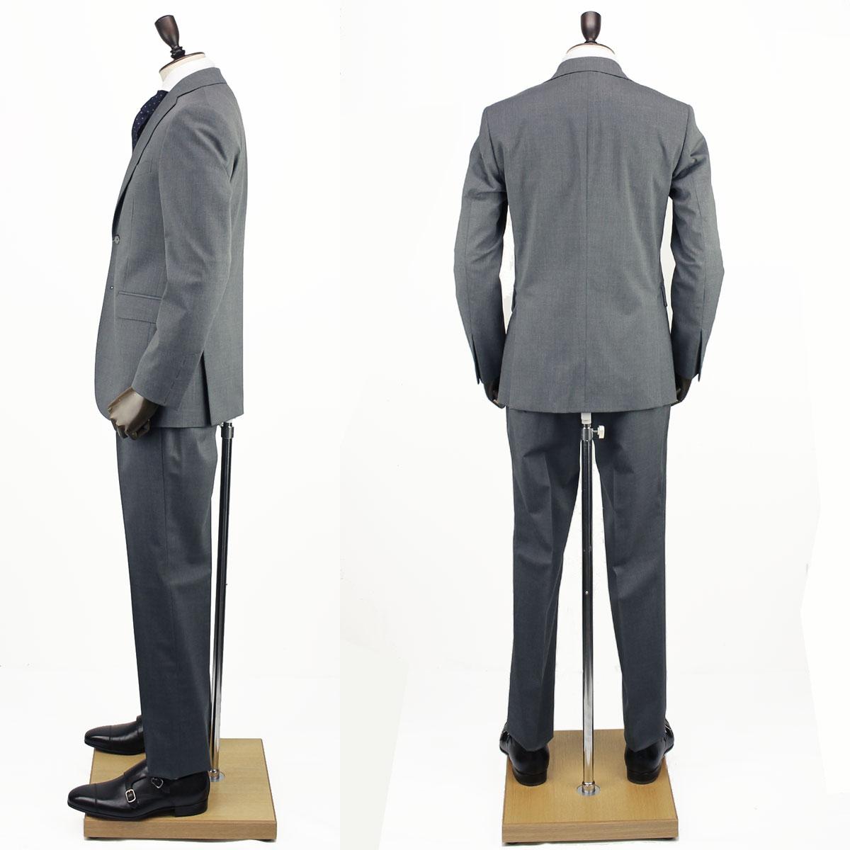【決算売尽しセール50%OFF】SANTANIELLO サンタニエッロ メンズ ウール ストレッチ 2B シングルスーツ V529/E1511/11/SAM 011 (ライトグレー)【返品交換不可】special priceBM