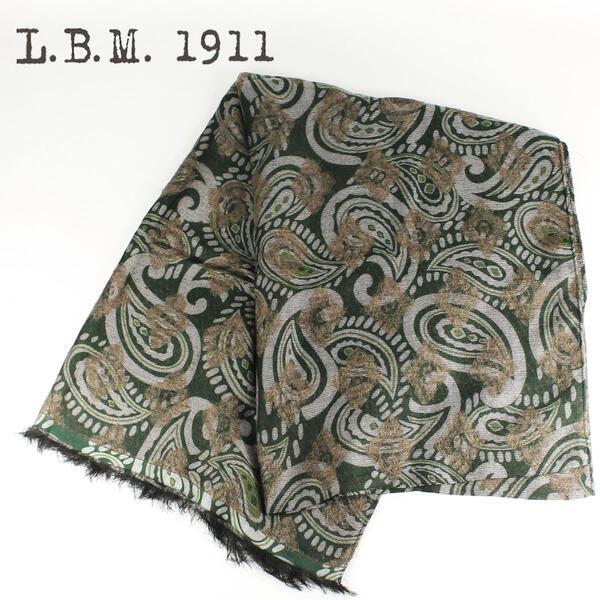 L.B.M.1911 エルビーエム1911 大判 ストール SCARVES 7L65789561 (グリーン)