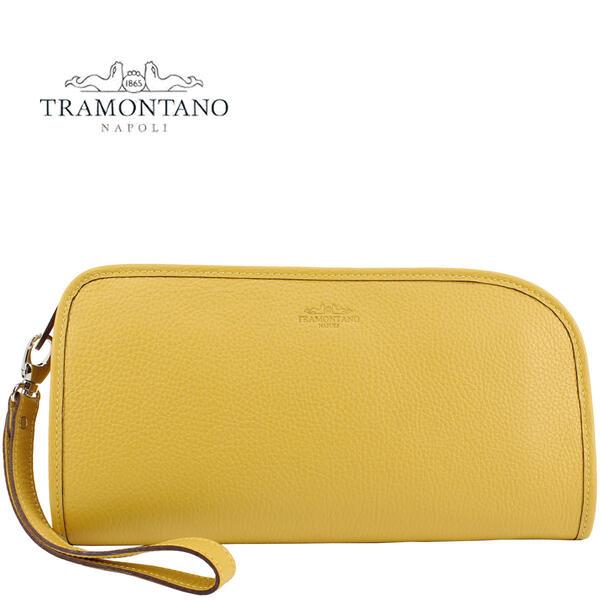 TRAMONTANO トラモンターノ カーフレザー クラッチバッグ 1450 ALCE/COCCO LIME GREEN(イエロー)