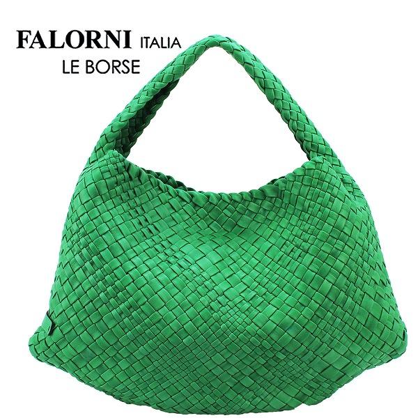 FALORNI ファロルニ ラムレザー イントレチャート ワンショルダーバッグ 1059TRAC(グリーン)