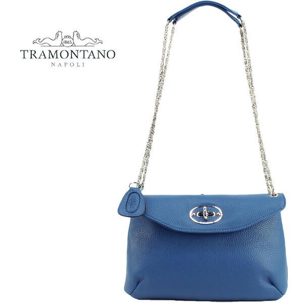 TRAMONTANO トラモンターノ レディース レザー フラップポシェット チェーンショルダーバッグ 1922 ALCE(ブルー)