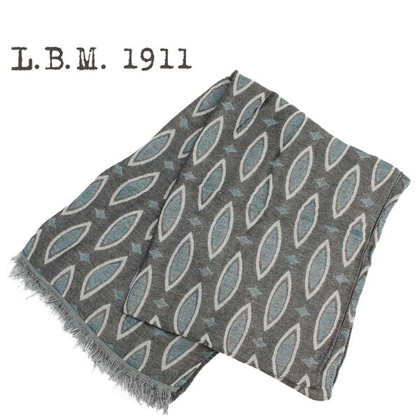 L.B.M.1911 エルビーエム1911 大判ストール 9L65789601 004(グレー×グリーン)