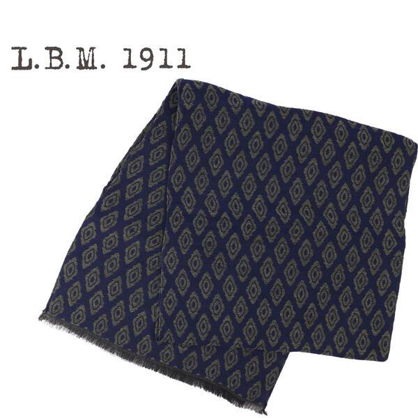 L.B.M.1911 エルビーエム1911 シルク混ウールストール 9L65789597 003(ネイビー×グリーン)