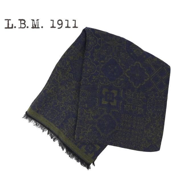 L.B.M.1911 エルビーエム1911 大判ストール 9L65789599 004(ネイビー×グリーン)