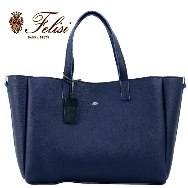 国内正規品 即日発送 Felisi フェリージ レザー 2way トートバッグ 18/53/LD COBALT BLUE 019(ブルー)