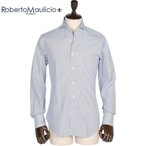 ROBERTO MAULICIO SWEEP!! ロベルトマウリシオ スウィープ ストライプシャツ London Stripe (ブルー)