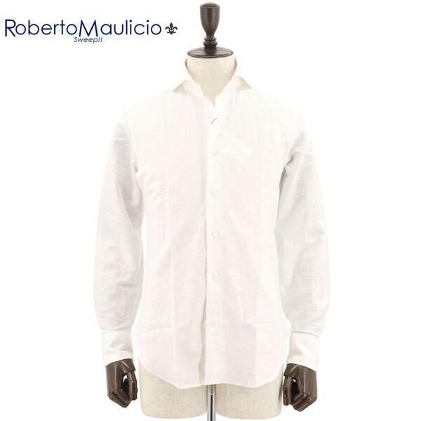 ROBERTO MAULICIO SWEEP!! ロベルトマウリシオ スウィープ メンズ コットンリネンシャツ Cotton/Linen WH(ホワイト)