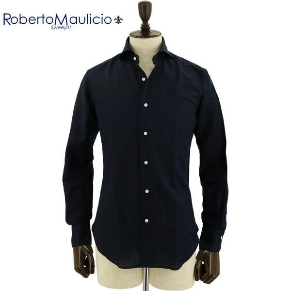 ROBERTO MAULICIO SWEEP!! ロベルトマウリシオ スウィープ メンズ コットンリネンシャツ Cotton/Linen NV(ネイビー)