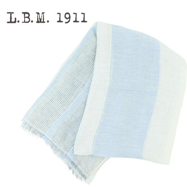 L.B.M.1911 エルビーエム1911 リネン コットン 薄手 ストール AL65789259 001(ブルー)