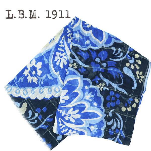 L.B.M.1911 エルビーエム1911 リネン コットン 薄手 ストール AL65789268 001(ブルー)