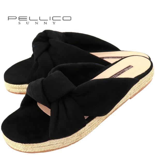 国内正規品 即日発送 PELLICO SUNNY ペリーコ サニー ジュートソール スウェード サンダル DHALIA PJ19-0351 ANTE NEGRO(ブラック)