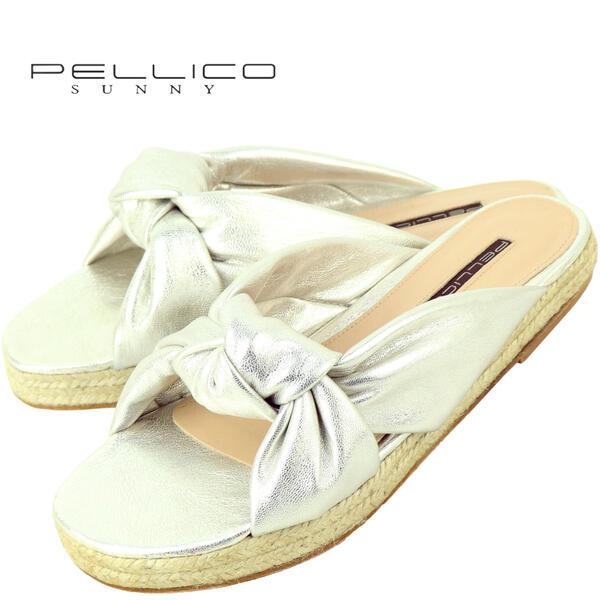 【スーパーセール】PELLICO SUNNY ペリーコ サニー ジュートソール ゴートレザー サンダル DHALIA PJ19-0351 ECLAT PEARL(シルバー)【返品交換不可】special priceAL