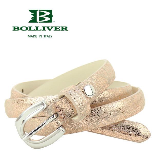 BOLLIVER ボリバー レディース レザー クラック ベルト 280210(ピンク)
