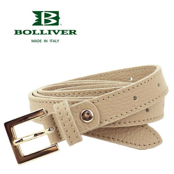 BOLLIVER ボリバー レディース レザー ループ巻 ロングベルト 280310(ベージュ)
