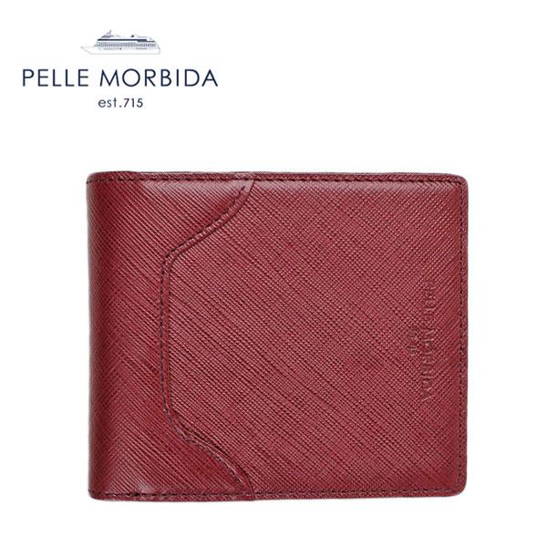 PELLE MORBIDA ペッレモルビダ 2つ折り財布 BA104 (ワイン)