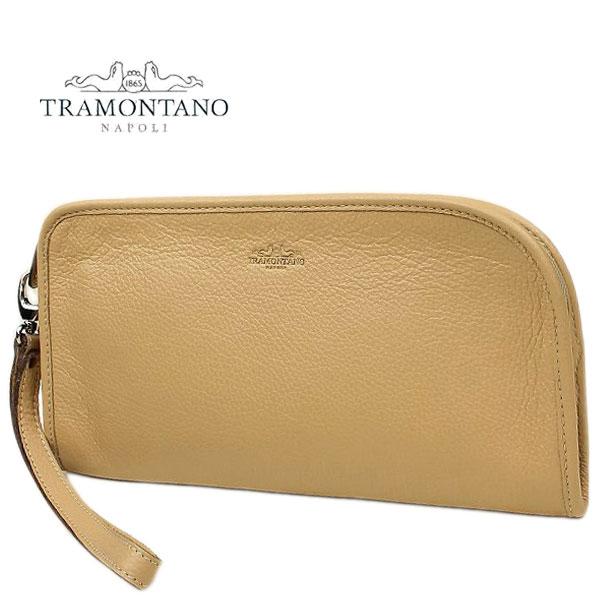 TRAMONTANO トラモンターノ メンズ カーフレザー クラッチバッグ 1450 ALCE/COCCO CHAMPAGNE (ライトベージュ)