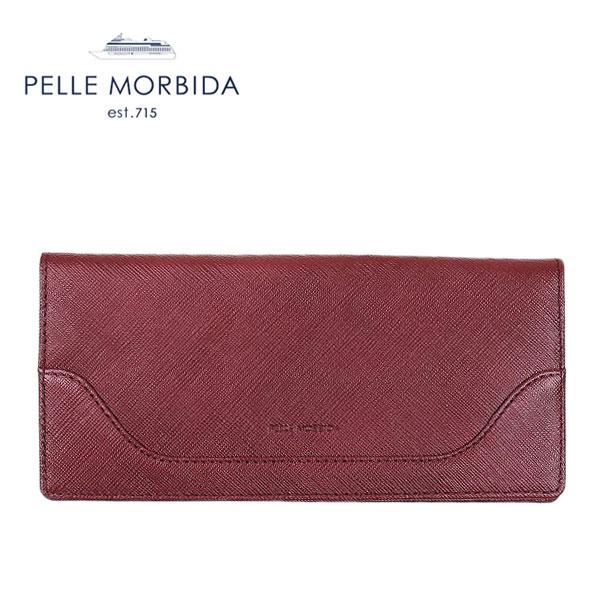 PELLE MORBIDA ペッレモルビダ スリム長財布(小銭入れ無) BARCA WALLET BA108 (ワイン)