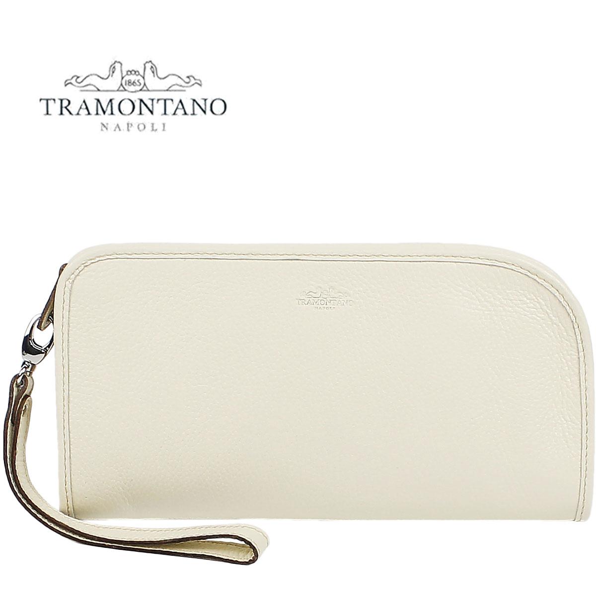 TRAMONTANO トラモンターノ メンズ カーフレザー ストラップ付 クラッチバッグ 1450 ALCE (アイボリー)