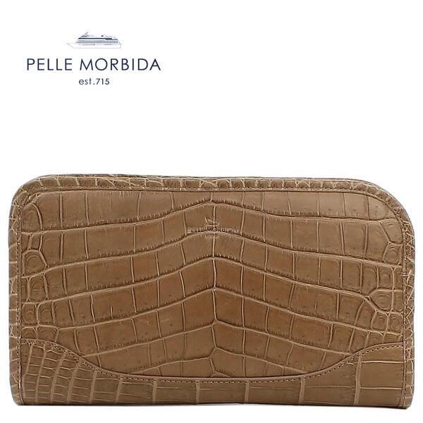 PELLE MORBIDA ペッレ モルビダ クロコダイルレザー クラッチバッグ PMO-CR015 COFFEE (モカ)