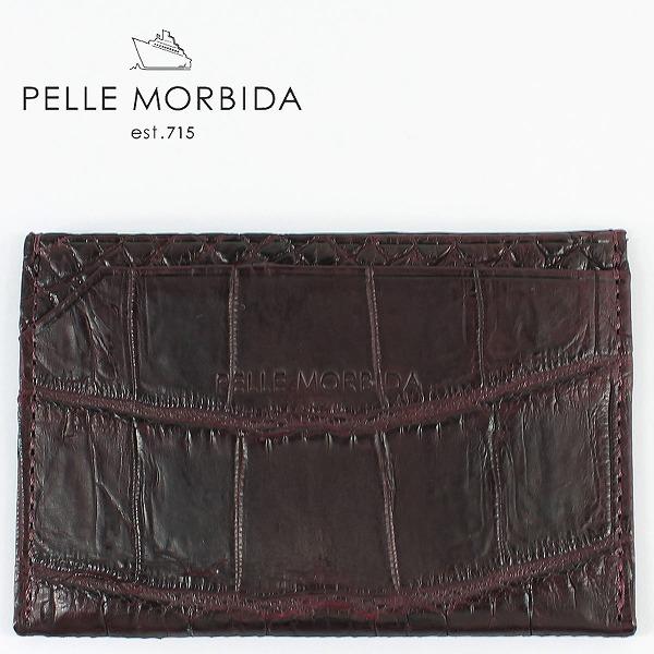 PELLE MORBIDA ペッレモルビダ クロコダイルレザー パスケース PMO-CRS009 BOR (ワイン)