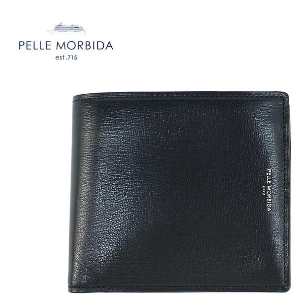 PELLE MORBIDA ペッレモルビダ ゴートレザー 2つ折り財布 BA404 NVY (ネイビー)