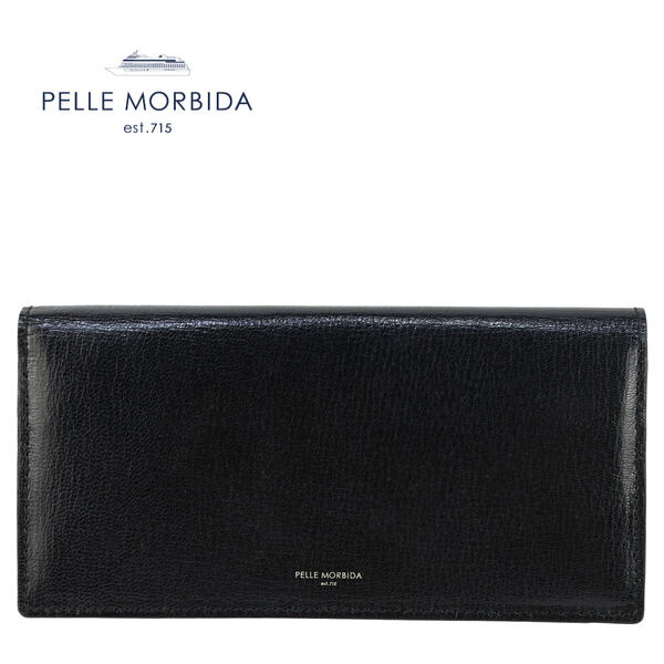 PELLE MORBIDA ペッレモルビダ ゴートレザー スリム長財布 BA410 BLK (ブラック)