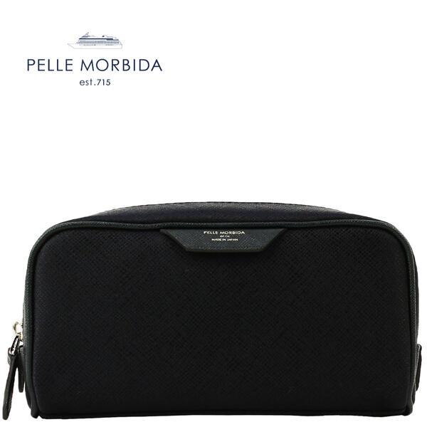 PELLE MORBIDA ペッレモルビダ CAPITANO キャピターノ リモンタナイロン ポーチ PMO-CA111(ネイビー×ネイビー)