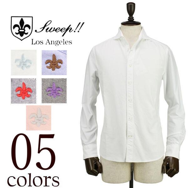 SWEEP!! LosAngeles スウィープ ロサンゼルス メンズ ホリゾンタルカラー オックスフォードシャツ Oxford-HZ(5colors)