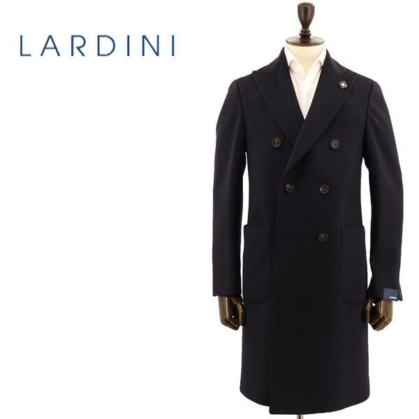 国内正規品 即日発送 LARDINI ラルディーニ メンズ ウール 6B ダブルブレスト チェスターコート JQ23211AQ/ILRP53693/5/1(ネイビー)