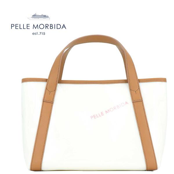 国内正規品 即日発送 PELLE MORBIDA ペッレモルビダ Tela Marina テーラマリーナ PVCコーティング ロゴ ハンドバッグ PMO-TE007 CAM(キャメル)