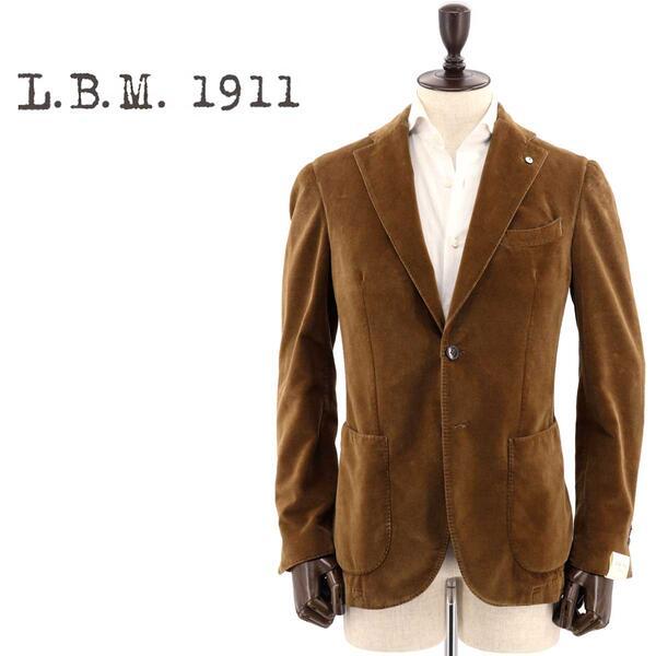 国内正規品 即日発送 L.B.M.1911 エルビーエム1911 メンズ コットン ベルベット 2B シングルジャケット JACK 9201A29705124 4(ブラウン)