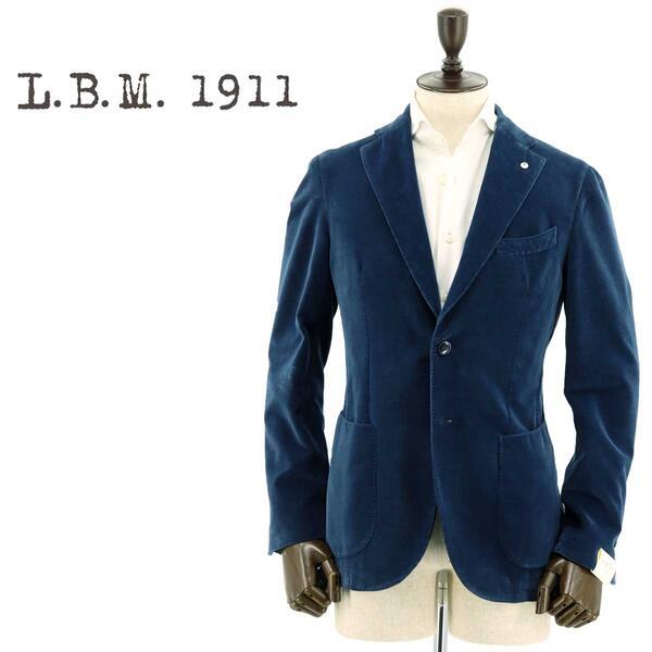 国内正規品 即日発送 L.B.M.1911 エルビーエム1911 メンズ コットン ベルベット 2B シングルジャケット JACK 9201A29705125 6(ブルー)