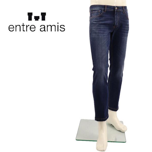 国内正規品 即日発送 ENTRE AMIS アントレアミ メンズ ストレッチ ウォッシュド テーパードデニム NOS-8177-206L02 0405(ブルー)