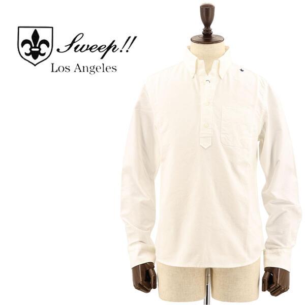 国内正規品 即日発送 SWEEP!! LosAngeles スウィープ ロサンゼルス メンズ コットン オックスフォード カプリボタンダウンシャツ PULLOVER OXFORD WHITE(ホワイト)